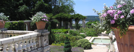 montgomery place ny italianate garden blithewood bard college hudson river andrew jackson downing